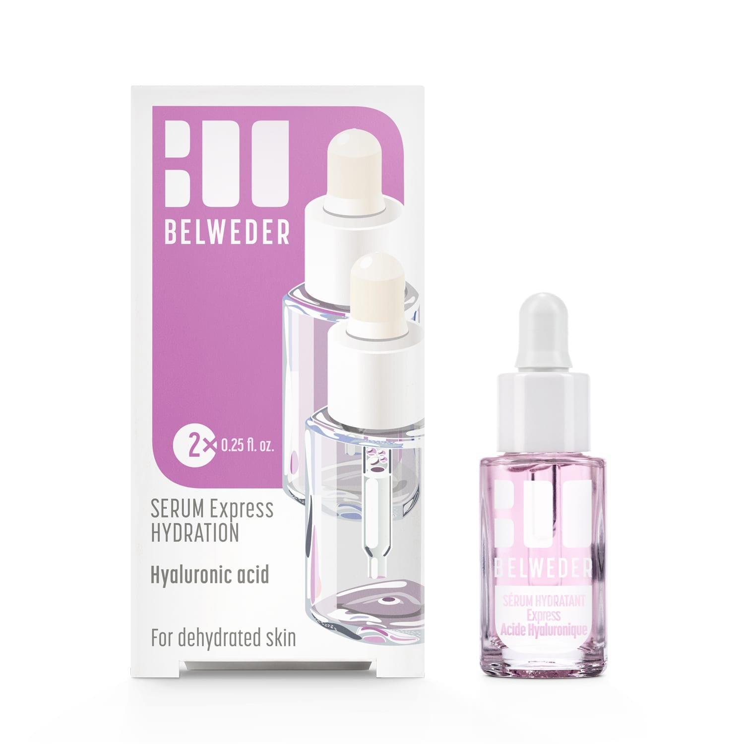 """SÉRUM HYDRATANT<br>Express Acide Hyaluronique<br> <span style=""""font-size: 18px;"""">2×7,5ml</span> Hydrater"""